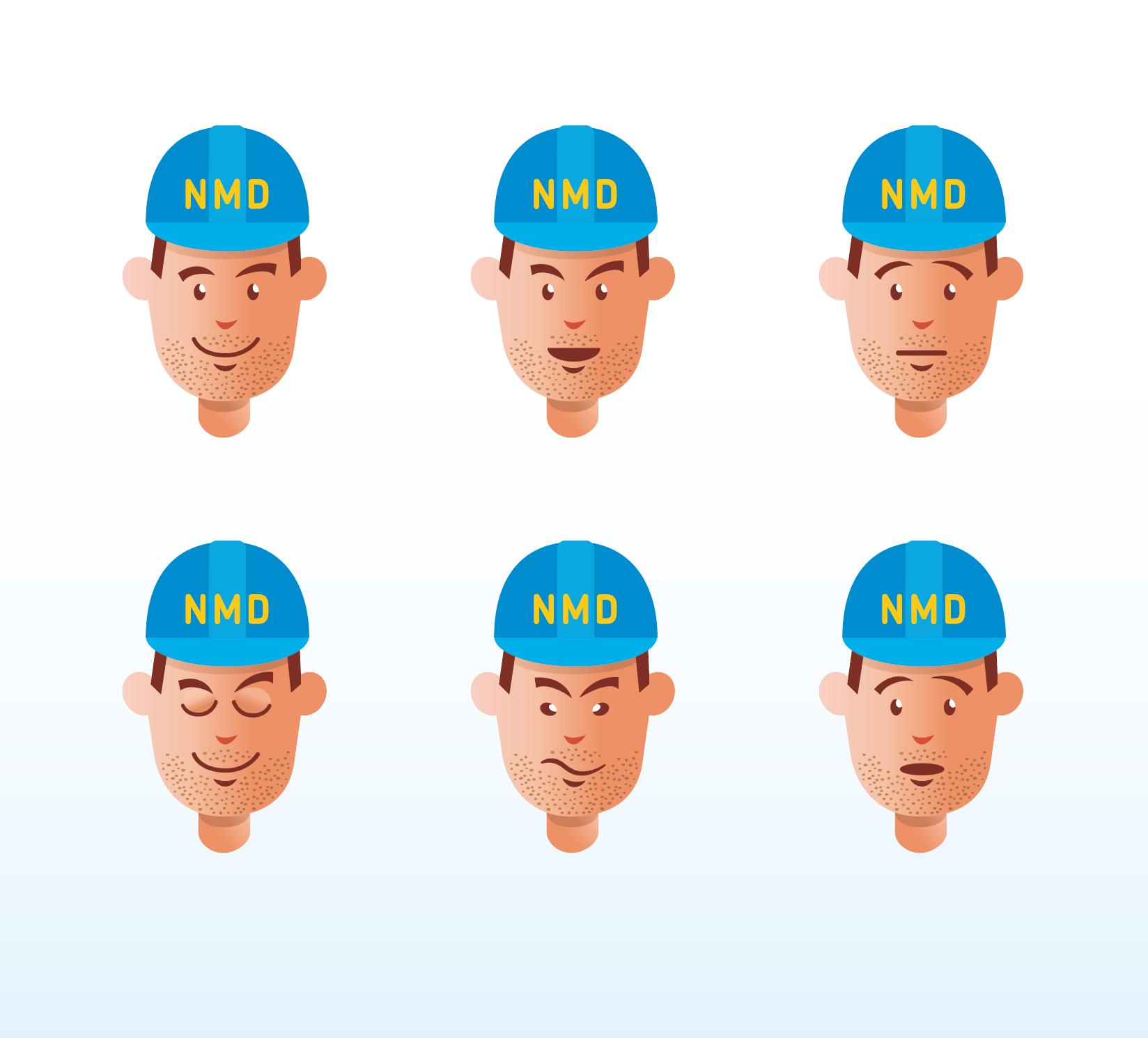 NMD_Bouwvakker_gezichtsuitdrukkingen